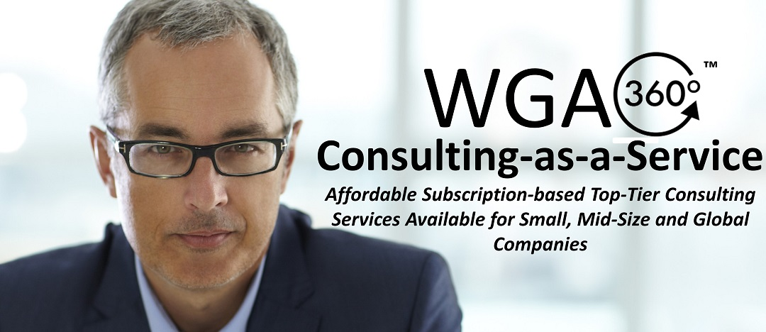 WGA360™ Consulting-as-a-Service. Affordable Subscription-based Consulting Services Available for Small, Mid-Size and Global Companies