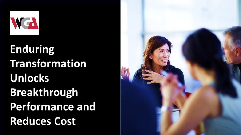 Business Transformation - Enduring transformation unlocks breakthrough performance and reduces costs.